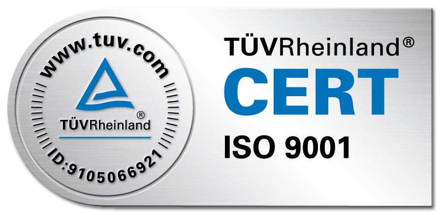Tuev Rheinland Cert ISO 9001