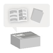 Icon Inhalt und Anleitung Produktverpackung mit detaillierter Anleitung