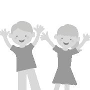 Dieses Icon steht für den großen Spielspaß der Produkte von SIMM Spielwaren. Es zeigt zwei lachende Kinder, die ihre Hände nach oben strecken.