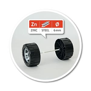 Logo-6 Millimeter verzinkte Stahlachsen